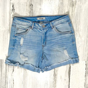 Refuge Denim Distressed Ripped Shorts Sz 4
